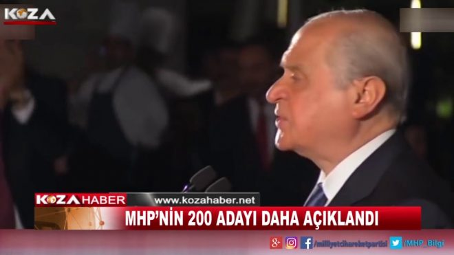 MHP'NİN 200 ADAYI DAHA AÇIKLANDI