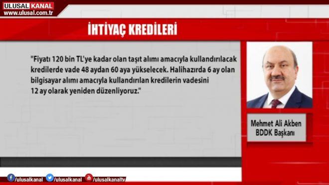 BDDK Başkanı Akben duyurdu! Kredi kartı, ihtiyaç kredileri ve taşıt kredileri...