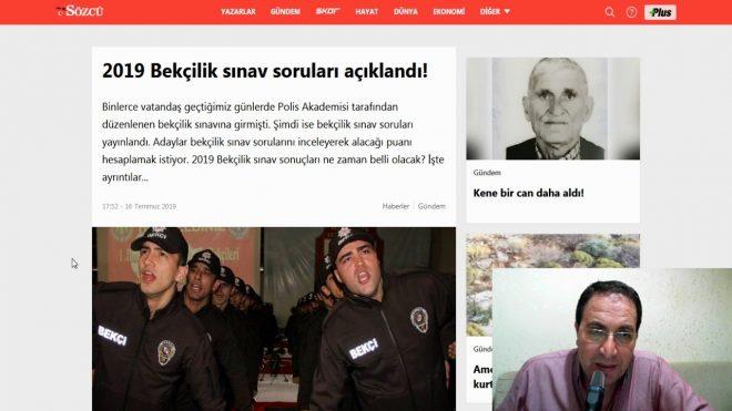2019 Bekçilik sınav soruları açıklandı – Polis Akademisi sınav soruları