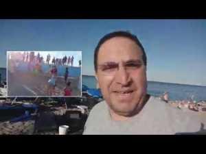 Konyaaltı plajında kadın dövmeye kalkan kişiyi Antalyalılar linç etti !!!