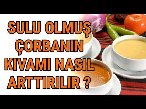 Sulu olmuş çorba nasıl kıvama getirilir ? Tuzlu çorbanın tuzu nasıl azaltılır ?