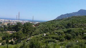 Antalya Şehir Manzarası Deniz Orman Kent Manzarası Altınyaka Yolu
