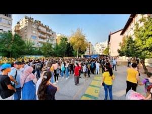 Antalya Merkez İlköğretim Okulunda 2019 - 2020 eğitim öğretim yılının ilk günü