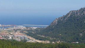 Altınyaka Yolundan Antalya Deniz Şehir Orman ve Dağ Manzarası