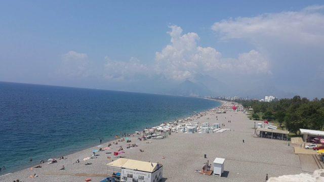 Varyanttan Antalya Beach Park Sahil ve Deniz Manzarası Antalya Gezi Tatil