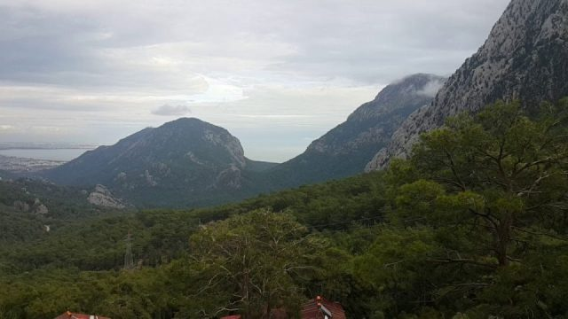 Antalya Dev Salıncak Hisarçandır Saklıköy Evleri Manzarası