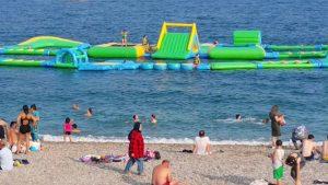 Antalya Tatilcilerin Deniz Keyfi - Antalya Konyaaltı Deniz Manzarası Gezi Tatil