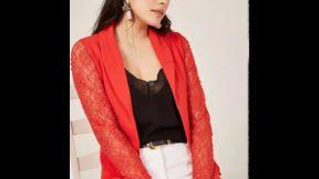 Bayan Dantelli Ceket Modelleri 2019 Kadın Moda Bayan Giyim Elbiseler