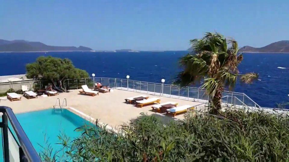 Kaş Yarımada Oteller Meis Adası Manzarası Kaş Antalya Tatil Gezi