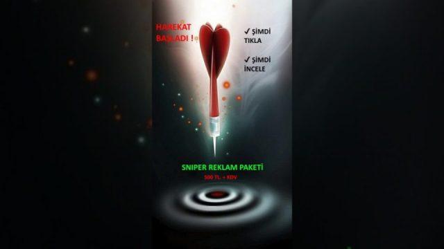Sniper Reklam Paketi - 500 TL.