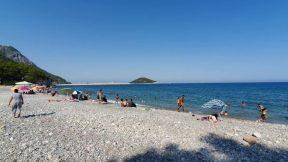 Küçük Çaltıcak Plajı Deniz ve Orman Manzarası Hafta Sonu Gidilebilecek Yeler Antalya