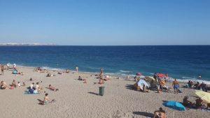 Sonbaharda Antalya Konyaaltı Plajı Deniz Manzaraları