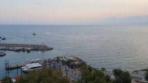 Geniş Açı Manzara - Muhteşem Yat Limanı, Deniz ve Kaleiçi Manzarası