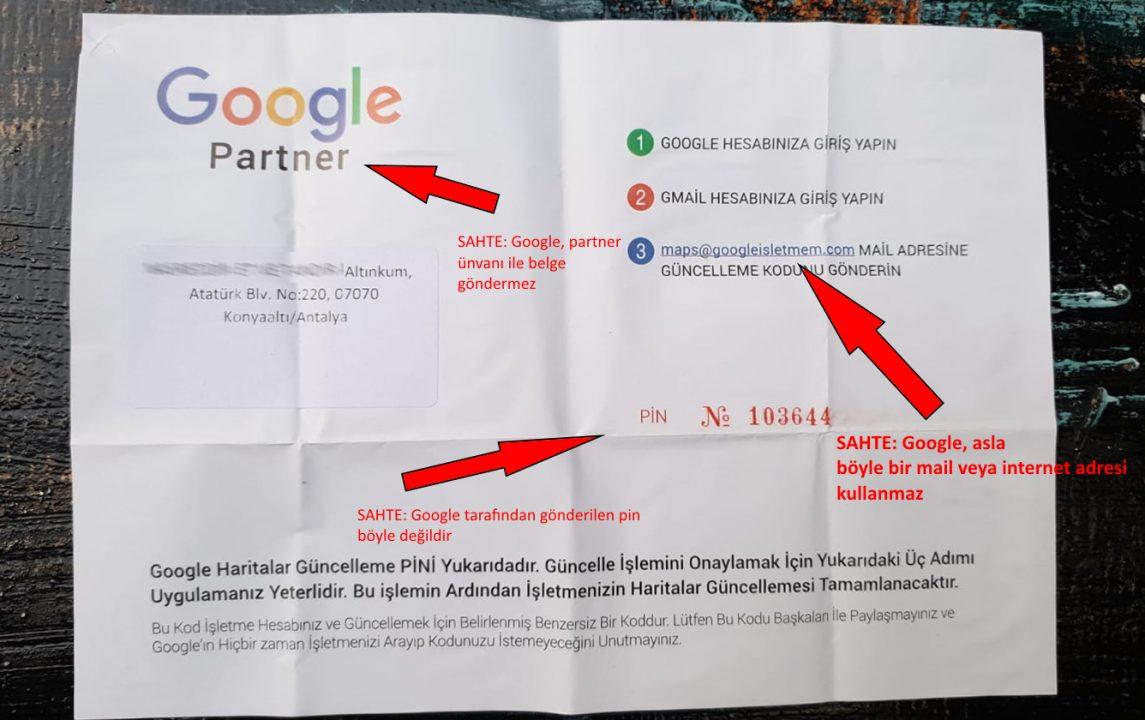 google dan mektup geldi diyerek dolandırıyorlar (4)