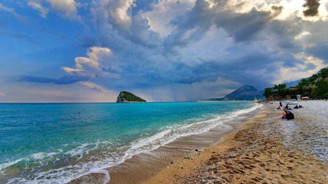 Topçam Antalya Piknik Mangal Alanları Deniz Manzarası