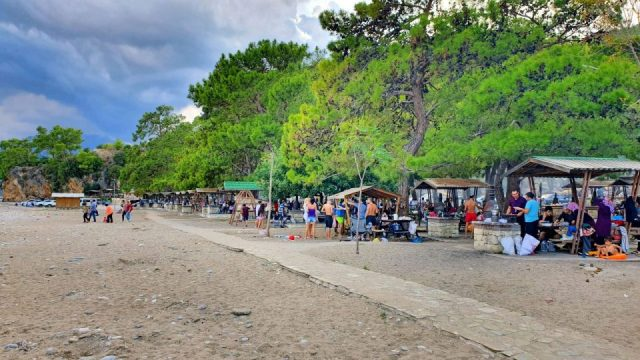Topçam Antalya Piknik Mangal Alanları Deniz Manzarası (14)