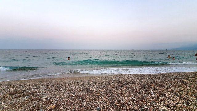 Akşamüzeri Deniz Manzarası Dalga Sesleri Antalya Konyaaltı Plajı