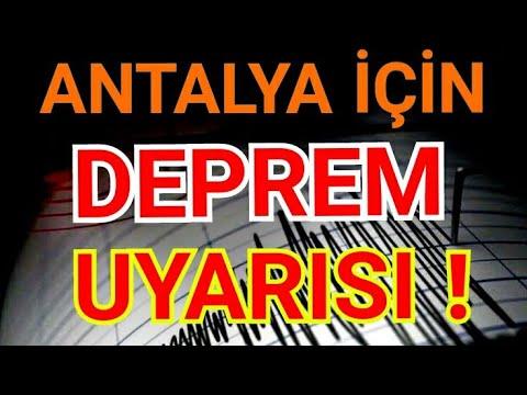 Antalya için deprem uyarısı ! Antalya'da deprem olmaz deniyor ama ...