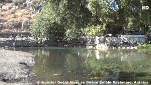Antalya Kırkgözler suyu nerede ? Düden Şelalesi nereden çıkıyor ?