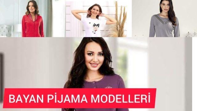Bayan Pijama Takımları Kadın Moda Giyim Kombinleri Pijama Çeşitleri