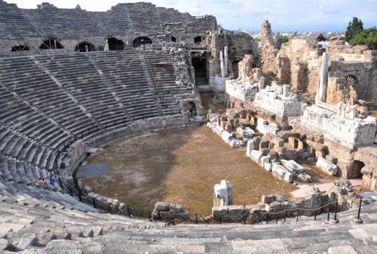 Antalya Side Antik Kenti - The ancient city of Antalya Side