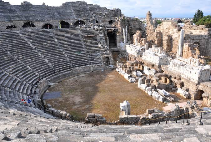 side antik kenti manavgat antalya