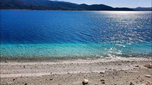 Salda Gölünün Berrak Suyu - Salda Gölü Sahili Sahili Yeşilova Burdur