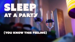Sleeping on the couch at a party - (3 hours relaxing ambience and music)