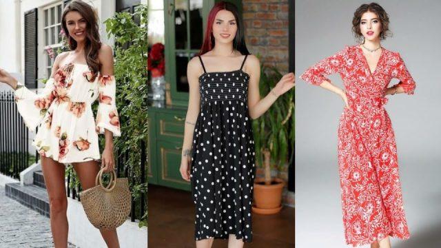 Yazlık elbiseler bayan yazlık elbise modelleri yeni sezon yazlık kombin çeşitleri