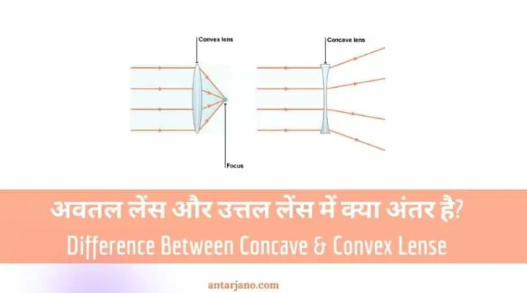 6 Difference Between Concave and Convex Lens in Hindi