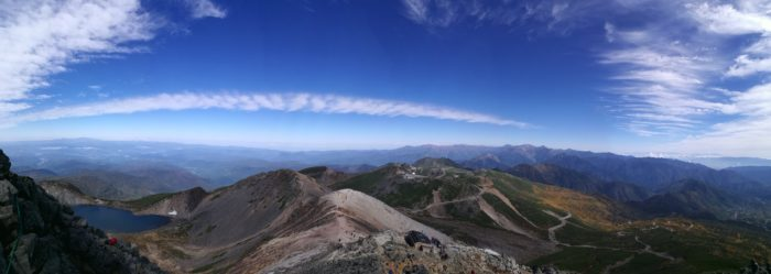 乗鞍岳からの風景