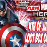 Marvel Heroes Omega 4th Of July 10x Loot Box Openings And Captain America Patrolling