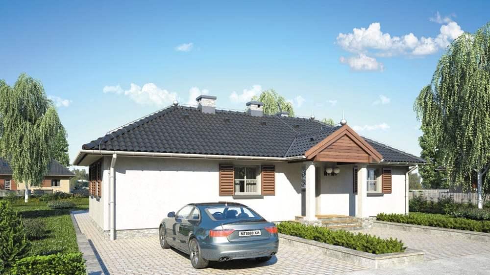 Проект одноэтажного дома с террасой «КО-114» - фото №3