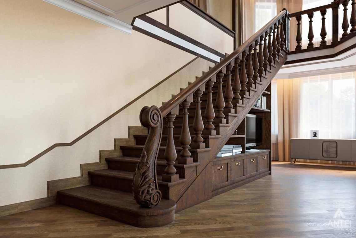 Дизайн интерьера коттеджа в г. Гомель, ул. Плеханова - лестница фото №1