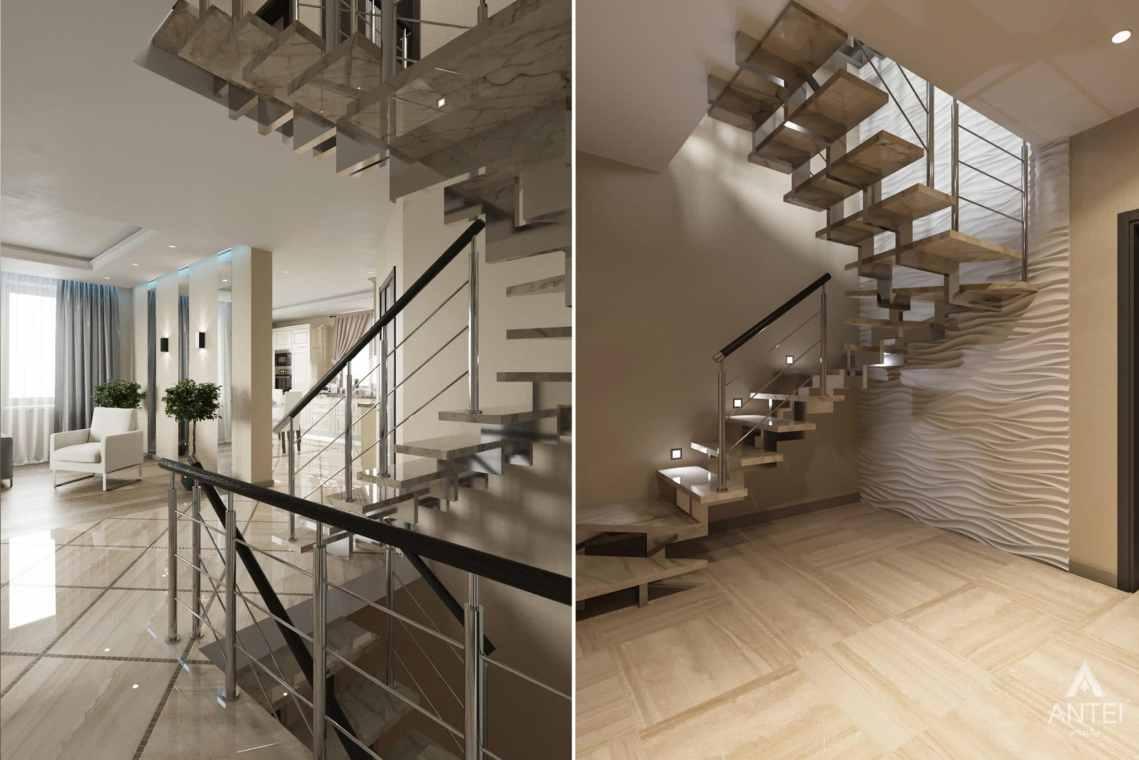 Дизайн интерьера загородного дома в г. Люберцы, Россия - лестница 1 этаж