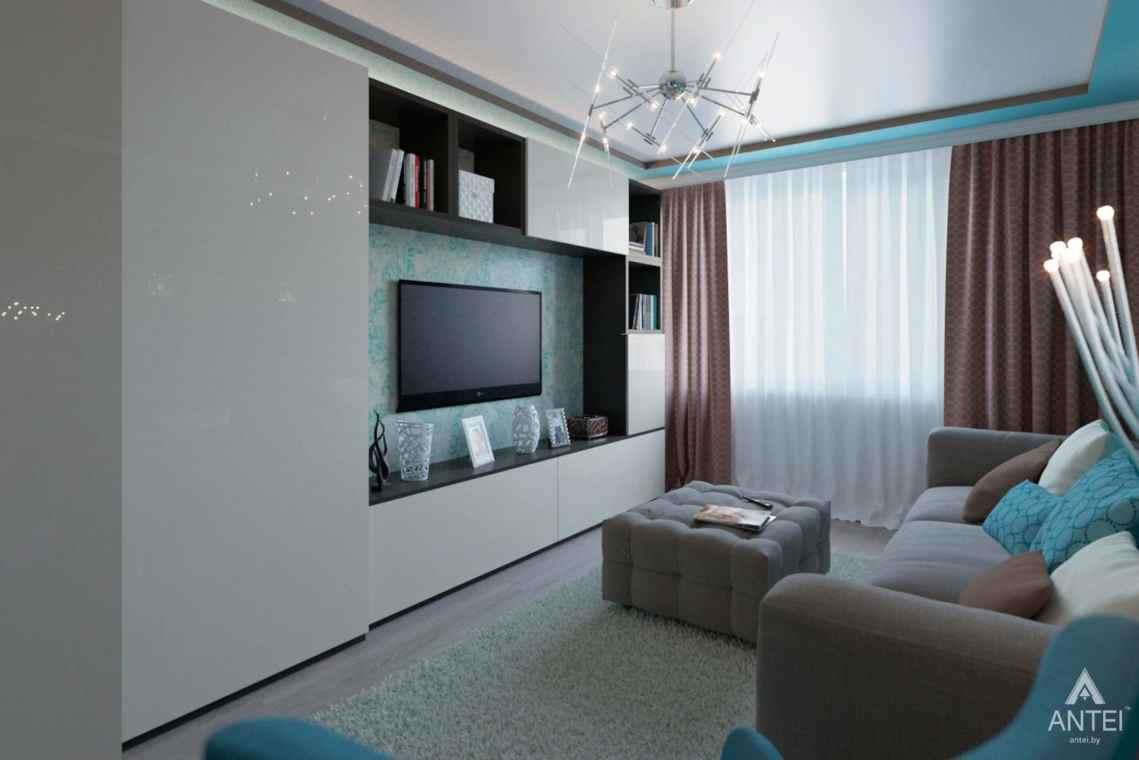 Дизайн интерьера квартиры в Гомеле, ул. Ландышева, 14 - гостиная фото №2