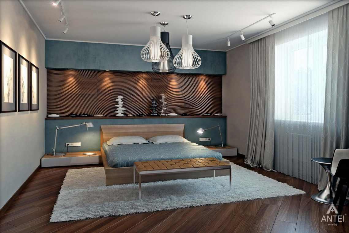 Дизайн интерьера загородного дома в Гомеле - спальня фото №1