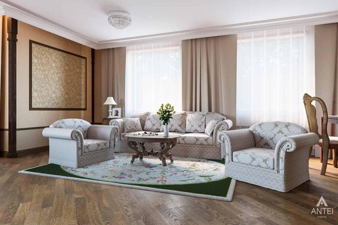 Дизайн интерьера коттеджа в г. Гомель, ул. Плеханова - гостиная фото №1