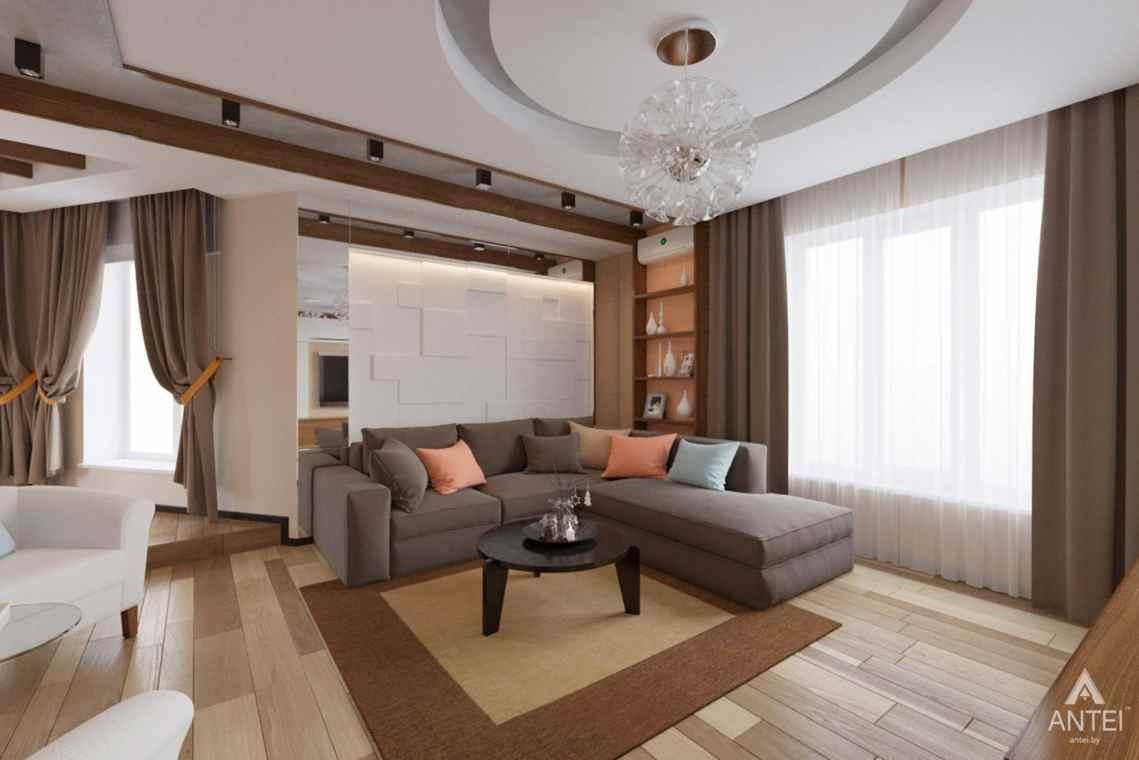 Дизайн интерьера загородного дома в п. Улуковье, Гомельский р-н - гостиная фото №1