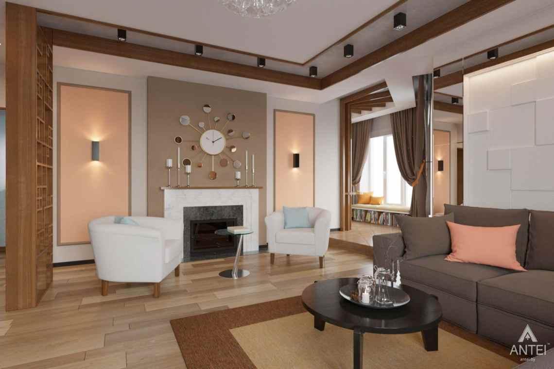 Дизайн интерьера загородного дома в п. Улуковье, Гомельский р-н - гостиная фото №3