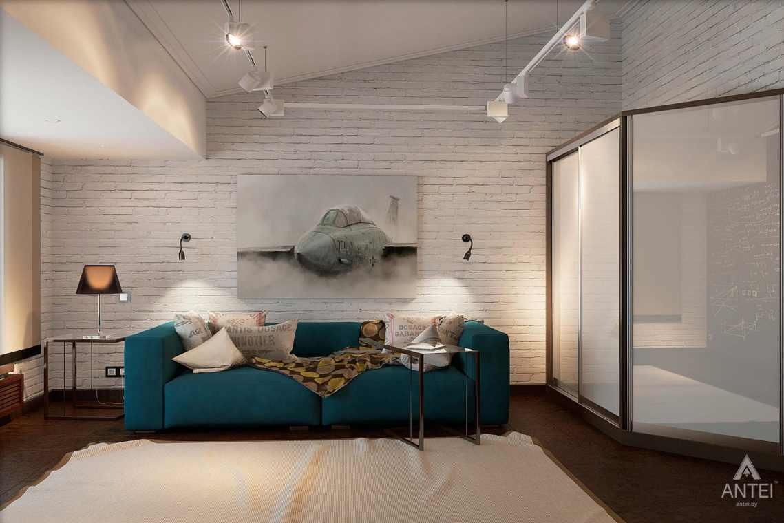 Дизайн интерьера загородного дома в Сургуте, Россия - гостиная фото №2