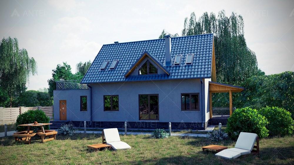 Проект мансардного дома с гаражом и террасой «КМ-12» - фото №2