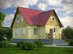 Проект мансардного дома «КМ-35»