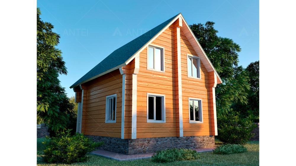 Проект мансардного дома с террасой и лоджией «КМ-36» - фото №2