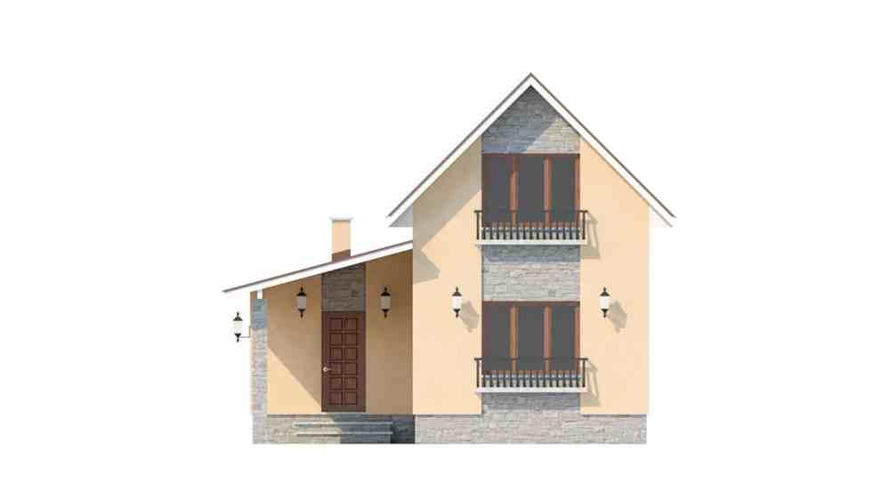Фасад мансардного дома «КМ-47» - справа