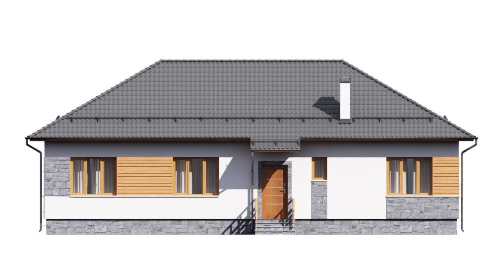 Фасад одноэтажного дома «КО-119» - спереди