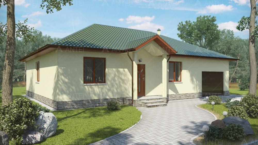 Проект одноэтажного дома с гаражом и террасой «КО-26» - фото №2