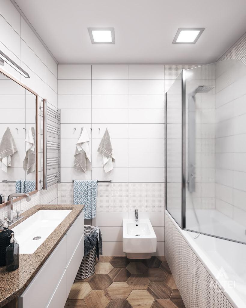 Дизайн интерьера квартиры в Гомеле, ул. Волотовская - ванная фото №1