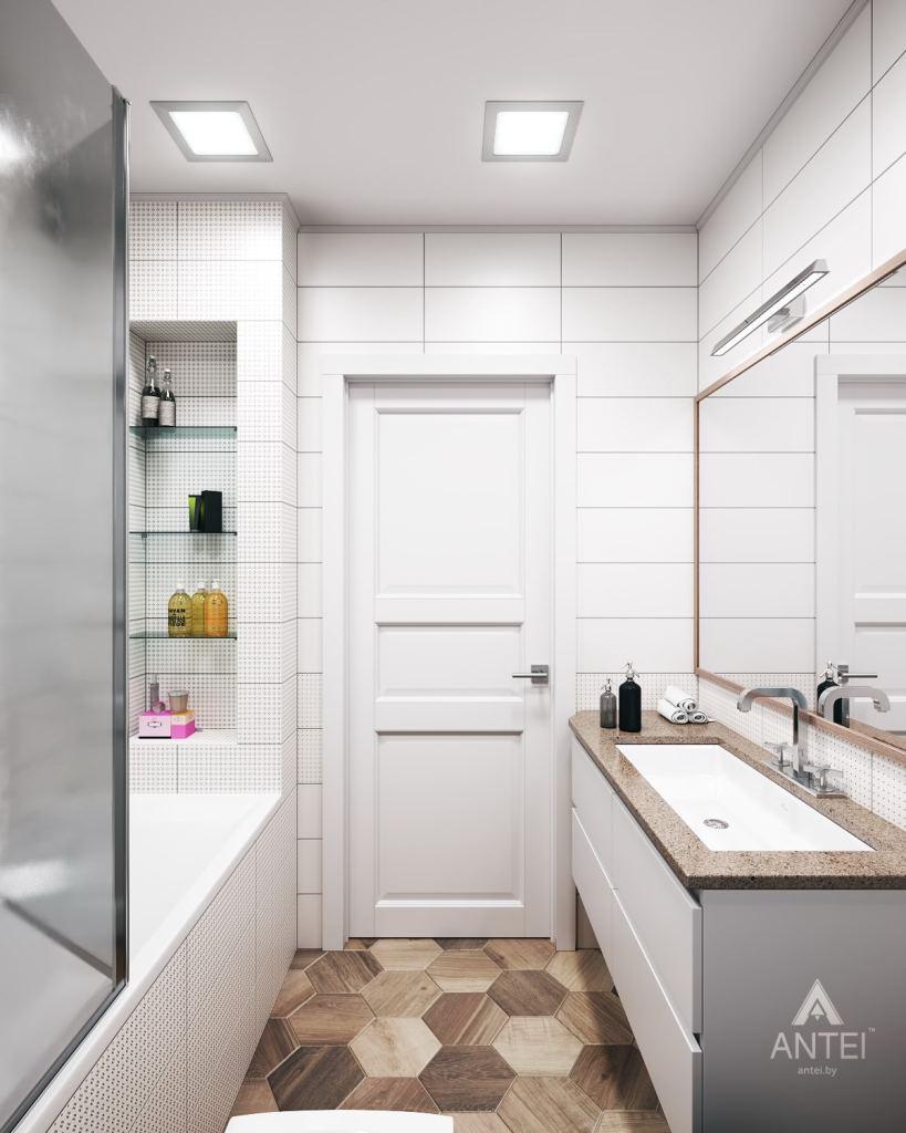 Дизайн интерьера квартиры в Гомеле, ул. Волотовская - ванная фото №3