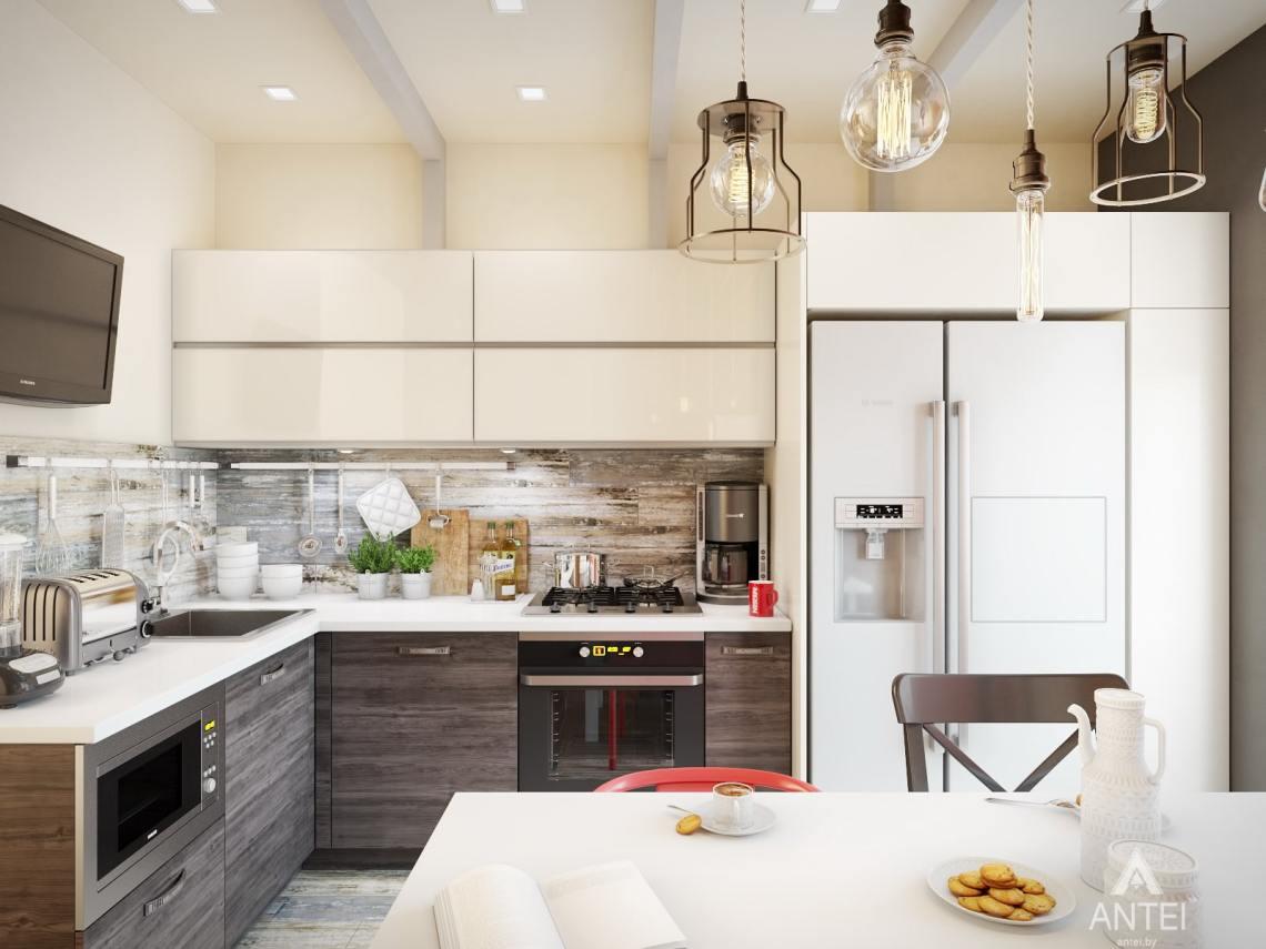 Дизайн интерьера квартиры в Гомеле, ул. Пенязькова - кухня фото №2